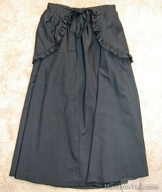 Black Peace Now Long Bustle Skirt