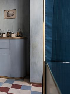 Interior Color. Love the rounded cabinetry. DIMORE STUDIO