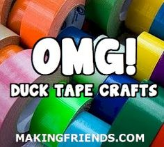 Duct tape crafts to excite every crafter! -- all kinds of links...including WATER BOTTLE HOLDER