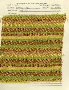 Dorothy Liebes woven swatch. Mid-20th century.