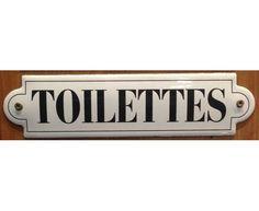 Toilettes - 50 x 200 mm - Plaque émaillée