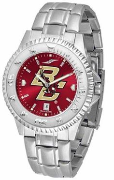 Boston College BC Men's Stainless Steel Dress Watch by SunTime. $86.95. Officially Licensed Boston College Eagles Men's Stainless Steel Dress Watch. Stainless Steel. AnoChrome Dial Enhances Team Logo And Overall Look. Men. Links Make Watch Adjustable. Boston College Eagles men's stainless steel watch. College dress watch with rotating bezel color-coordinated to compliment your favorite team logo. The Competitor Steel utilizes an attractive and secure stainless steel band....