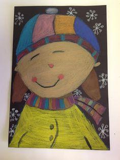 Color It Like you MEAN it!: 1st grade self portraits