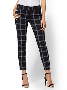 6fd5c8f6952 Shop The Audrey Ankle Pant - Petite Black  amp  White Check Print. Find your