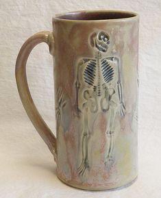 ceramic skeleton coffee mug 20oz stoneware 20B054 by desertNOVA $22.00