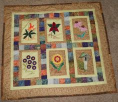 Machine embroidery, applique, and quilting done by 71 year old newbie of Quilting Board, vhord620