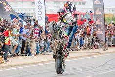 Sarah Lezito - stuntrider, Blackliner, Libreville moto show