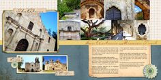 Scraps of Shirlee: San Antonio Alamo Mission Trail Scrapbook