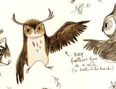 Owl by Emily M Hughes Pinned by www.myowlbarn.com