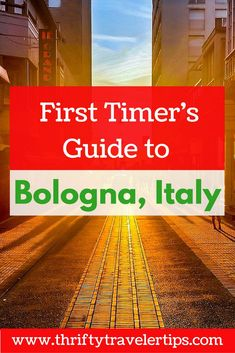 Are you planning your first trip to Bologna, Italy? This guide has everything you need to know before you go including food and drinks to try in Bologna, Italian phrases to know, and things to see while you're in Bologna, Italy. Don't forget to save this for later!