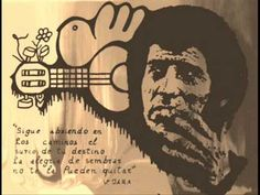 Victor Jara - Cancion Del Árbol Del Olvido Victor Jara, Black And White, Words, Terminal, Quotes, Lightning, Photography, Thoughts, Logo