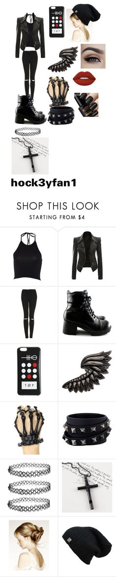 """""""Alex saves Jensen outfit IIDFY"""" by alexandraautidiea9 on Polyvore featuring Topshop, Roberto Cavalli, Valentino, Trend Cool and Lime Crime"""