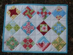 Sew Small Sampler Quilt Pattern  By: Deanna from Wedding Dress image: http://images.intellitxt.com/ast/adTypes/icon1.png  Blue