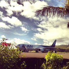 Just landed at Mataveri International Airlines, Easter Island! Lan Chile, Lan Airlines, International Airlines, Easter Island, Airplanes, South America, Remote, Journey, Explore