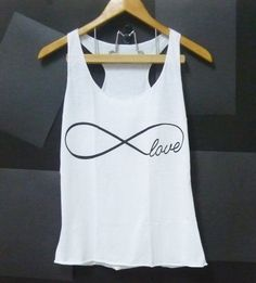 Infinity tank top love shirt cute tank top white by CuteClassic, $12.00