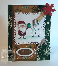 This uses Season's Greetings StampTV kit and designer papers.