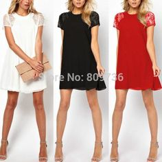 2015 Summer new Hot women floral Short Sleeve Lace Dress lady Casual Loose O-neck Vintage embroidery hollow out dress free | OK Fashion