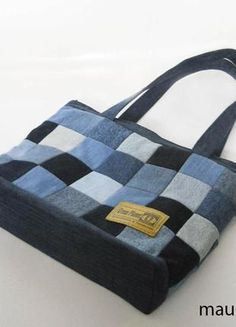 Diy Bags Patterns Denim Patchwork Patchwork Bags Denim Crafts Denim And Lace Embroidered Bag Recycle Jeans Fabric Purses Fabric Bags Denim Handbags, Denim Tote Bags, Denim Purse, Diy Tote Bag, Patchwork Bags, Quilted Bag, Bag Quilt, Denim Crafts, Recycled Denim