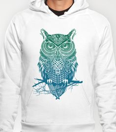 Warrior Owl Hoody by Rachel Caldwell - $38.00