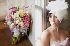 Unique bouquet and the bride