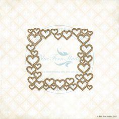 Blue Fern Studios - Chipboard - Heart Frame,$5.99