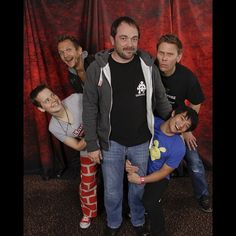 Sebastian Roche, Mark Sheppard, Osric Chau, and Mark Pellegrino at ChiCon 2013