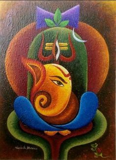 62 Ideas Fitness Photography Gym Beauty Rangoli designs diwali beauty Designs d. Ganesha Drawing, Lord Ganesha Paintings, Lord Shiva Painting, Buddha Painting, Ganesha Art, Krishna Painting, Buddha Art, Mural Painting, Mural Art