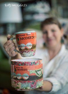 Kelly Rae Roberts Infuser Mug Set-Savor the Moment