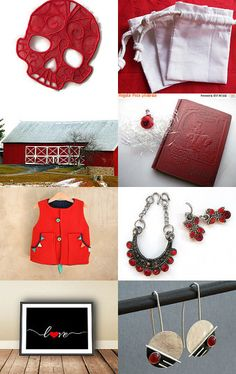 The Sensational Color Red by Susan on Etsy--Pinned with TreasuryPin.com