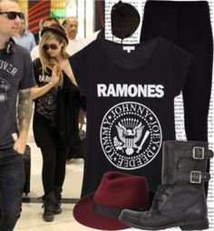 """""""Avril Lavigne Style."""" by blackstar-forever ❤ liked on Polyvore"""