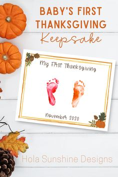 1) Purchase & Print. 2) Stamp your baby's handprints (or footprints). 3) Mail or gift to loved ones this fall! #thanksgiving2020 #thanksgivingcrafts #thanksgivingdiy #diythanksgiving #diybabycrafts #handprintcrafts #footprintart #handprintart #myfirstthanksgiving #diythanksgivingcards Diy Thanksgiving Cards, Babys First Thanksgiving, Baby Footprint Art, Footprint Crafts, Simply Stamps, Handprint Art, Baby Footprints, Stamp Pad, Baby Crafts