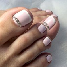 Looking for new and creative toe nail designs? Let your pedi always look perfect. We have a collection of wonderful designs for your toe nails that will be appropriate for any occasion. Be ready to explore the beauty and endless creativity of nail art! French Pedicure Designs, Best Nail Art Designs, Colorful Nail Designs, Toe Nail Designs, Pretty Toe Nails, Cute Toe Nails, Toe Nail Art, Pretty Pedicures, Acrylic Nails