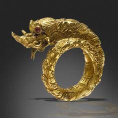 Thailand | A Gold Snake Ring | 19th Century | Ex Thai Royal Family