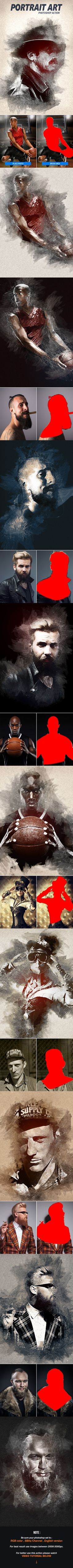 PortraitArt - Photoshop Action. Download here: https://graphicriver.net/item/portraitart-photoshop-action/17103924?ref=ksioks