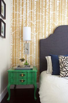 #Emerald #Green Nightstand.  | Learn more about Color 2013 on www.goeye4design.com
