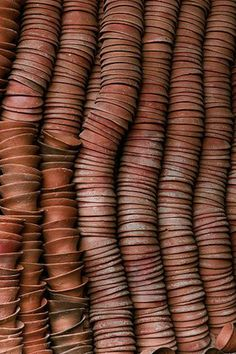 Styling with Terracotta Tints - The Lane Textures Patterns, Color Patterns, Color Terracota, Stacked Pots, Tadelakt, Brown Aesthetic, Color Stories, Clay Pots, Wabi Sabi