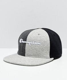 91cbbe2b530 Champion Reverse Weave Black   Grey Colorblock Strapback Hat. Strapback HatsCool  ShirtsColor ...