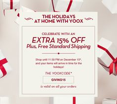 yoox.com Coupon Codes & Promo Codes – A yoox.com coupon provides you with specialized access to designer brand apparel, home decor, and presents series that are curated by trend and style…