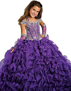 BFB Flower Girls' Prom Ball Gown Floor Length Wedding Pageant Dresses (8, Purple). Fabric:organza,taffeta,satin,tulle,beaded crystal,more beautiful with a petticoat. For Special Occasions: Evening Party, Birthday Party, Dancing, Graduation, Wedding. Accept the custom made color and size. IF there is no color and size you like, please email to us in advance!. Item color displayed in photos maybe showing slightly different on your computer. Hope your understanding!. If you need the dress...