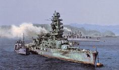 Battleship  Nagato  in 1946 after the Japanese Surrender.by milut1971