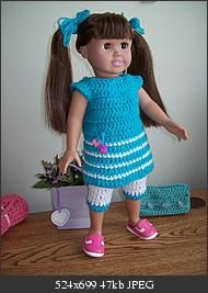 American Girl Crochet Outfit @Kristin Garza you might need this... lol