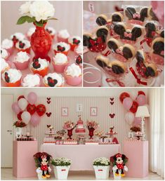Minnie Mouse themed birthday party Kids Girl Disney