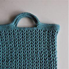Haak by Daphne: Crochet Pattern Grocery Bag Love Crochet, Crochet Top, Loom Knitting, Knitting Ideas, Needlework, Crochet Patterns, Tote Bag, Purses, Sewing