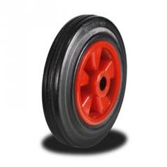200mm Wheel with Rubber on a Nylon Centre 205Kg Capacity