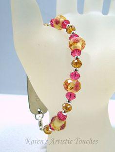 Karen's Artistic Touches Store - Topaz Pink Rose Swarovski Crystal Beaded Medical ID Alert Bracelet, $17.99 (http://www.karensartistictouches.com/topaz-pink-rose-swarovski-crystal-beaded-medical-id-alert-bracelet/)