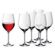 Set 6 pahare vin rosu Easy Plus, WMF Buy Glasses, Wmf, Table Accessories, Easy, Carafe, Red Wine, Wine Glass, Alcoholic Drinks, Burgundy