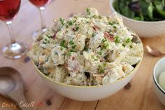 Whenever I'm invited to a BBQ and need to bring a dish with me, I always make my potato salad recipe. It's not just any side dish, it's the pride of sides!