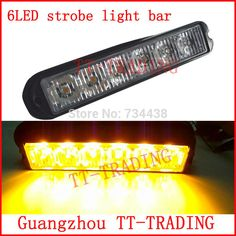 Led Strobe Lights For Trucks Delectable Gppower Universal Super Thin 6Led Redblue 19Flashing M…  6Led Review