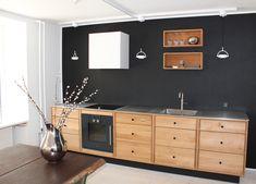SkabRum, Kitchen in oak. #kitchen #oak #steel #fingerjoint #danishdesign #madeindenmark #design #furniture #oak #wood #customize #drawers #handcrafted #carpentry