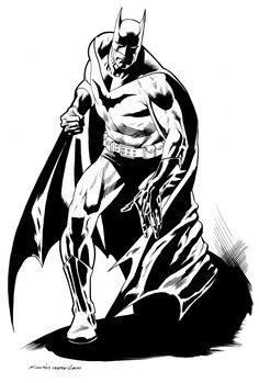Comic Art - Batman - the Dark Knight.  Kevin Nowlan: Three Batmen